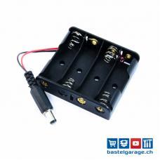 Batteriefach / Batteriehalter  4xAA mit Stecker