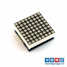 8x8 LED Dot Matrix Rot mit MAX7219 SMD