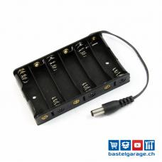 Batteriefach / Batteriehalter 6xAA mit Stecker für Arduino