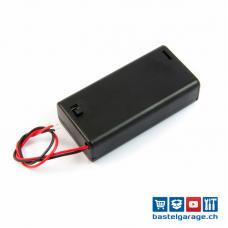 Batteriefach / Batteriehalter 2xAA mit Anschlusskabel und Schalter
