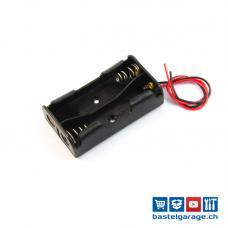 Batteriefach / Batteriehalter 2xAA mit Anschlusskabel