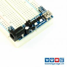 Power Adapter für Breadboard Steckbrett 5V / 3.3V Mini USB