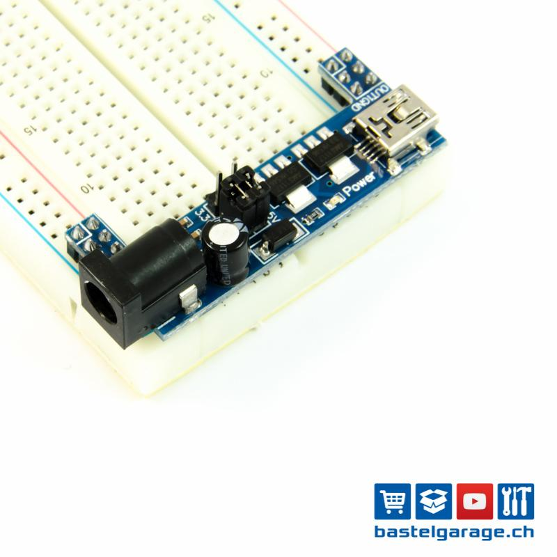 Power Adapter für Breadboard Steckbrett 5V / 3.3V Mini USB ...