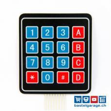 Folientastatur 16 Tasten / Tastenfeld 4x4 Matrix Keypad