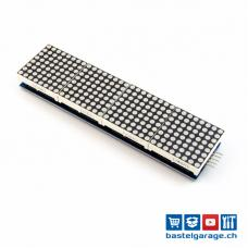 4 Module mit 8x8 LED Dot Matrix 32x8 Rot mit MAX7219 für Display