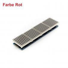 4 Module mit 8x8 LED Dot Matrix 32x8 Rot mit MAX7219 für Display