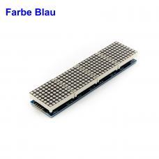 4 Module mit 8x8 LED Dot Matrix 32x8 Blau mit MAX7219 für Display