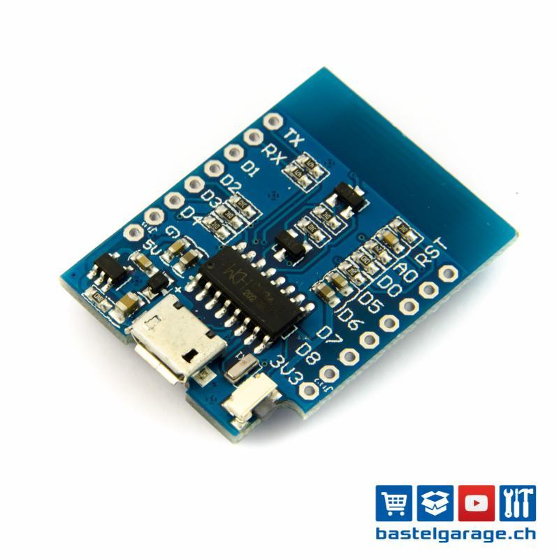 ESP8266 ESP-12 D1 Mini-Modul NodeMcu Lua WIFI Development Board Micro USB 3.3V Basierend auf ESP-8266EX 11 Digital-Pin