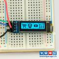 OLED Display Blau I2c 128x32 0.91''
