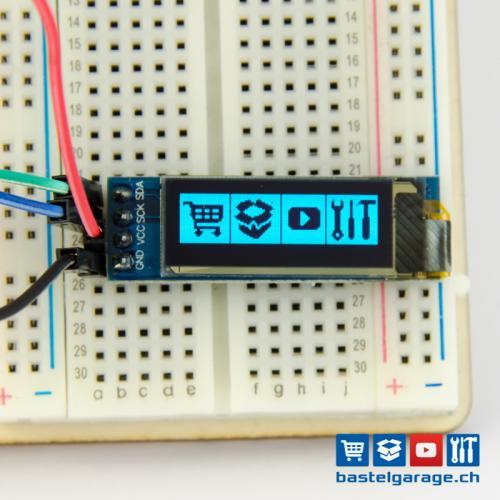 OLED Display Blau I2c 128x32 0 91''