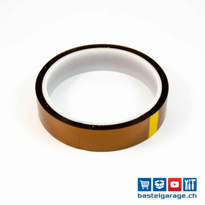 polyimid hitzebest ndiges klebeband tape 20mm x 30 meter bastelgarage elektronik online shop. Black Bedroom Furniture Sets. Home Design Ideas