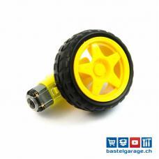 Roboter Getriebemotor 1:48 mit Rad