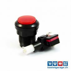 Arcade Taster Button beleuchtet 33mm - Rot