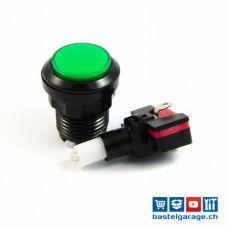 Arcade Taster Button beleuchtet 33mm - Grün