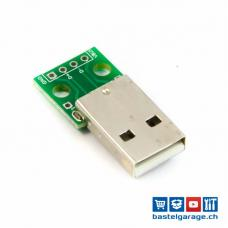 USB 2.0 A Stecker Breakout Board 4P