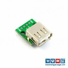 USB 2.0 A Buchse Breakout Board 4P