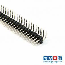 Stiftleiste Male 2 X 40 Polig RM 2.54mm abgewinkelte Pin