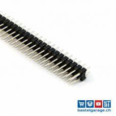 Stiftleiste Male 2 X 40 Polig RM 2.54mm gerade kurze Pin