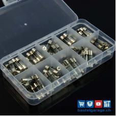 Feinsicherung Set 100Stk. 5x20mm assortiert