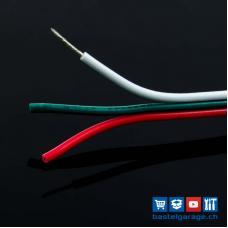 Litze 3 x 0.75mm² 18AWG Weiss/Grün/Rot