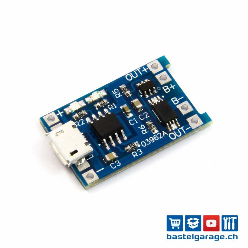 Mini USB 5 V 1A TP4056 Lithium Batterie Ladeplatine Ladegerät Modul Li LED  e.
