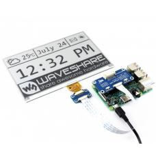 640x384 7.5inch Schwarz / Weiss E-Ink Display Raspberry Pi HAT