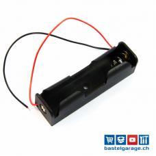 18650 Batteriefach / Batteriehalter mit Anschlusskabel