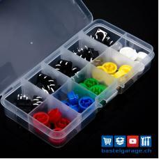 Taster / Button Set 25 Stück Diverse Farben