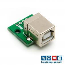 USB Typ B Buchse DIP Breakout Board 4P