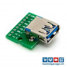 USB 3.0 Buchse DIP Breakout Board