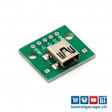 USB Mini-B Buchse DIP Breakout Board 4P