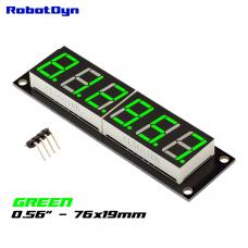 Grün 7-Segment 6 Bit TM1637 Digital LED Display 76x19mm