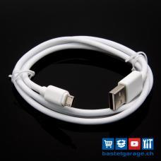 1m Qualität Micro USB Kabel weiss