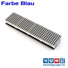 4 Module mit 8x8 LED Dot Matrix 32x8 Blau mit MAX7219 für Display