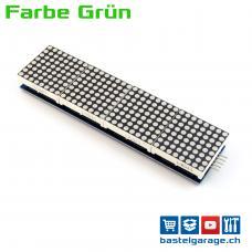 4 Module mit 8x8 LED Dot Matrix 32x8 Grün mit MAX7219 für Display