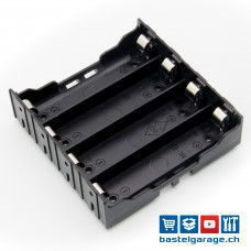 4-Fach 18650 Batteriefach / Batteriehalter