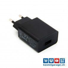 5V 2000mA USB Netzteil AC/DC-Adapter Schwarz