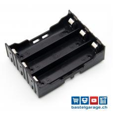 3-Fach 18650 Batteriefach / Batteriehalter