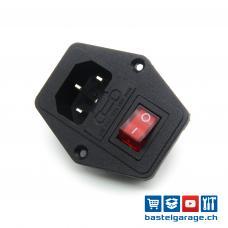 IEC320 C14 Kaltgerätebuchse / Einbaustecker