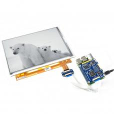 1200x825 9.7inch Schwarz / Weiss E-Ink Display Raspberry Pi HAT