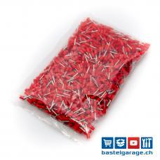 E0508 Aderendhülsen Rot 0.50mm² 1000 Stk. isoliert