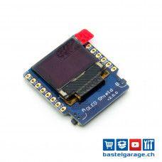 Wemos OLED Shield V2.0.0 Blau I2c 64×48 0.66''