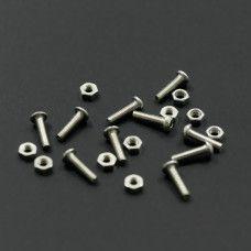 10 Stück M3x12mm Linsenkopfschrauben Set rostfrei Inox