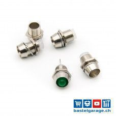 5 Stück LED Halter 5mm - Aluminium - verchromt