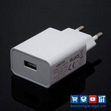 5V 2000mA USB Netzteil AC/DC-Adapter Weiss