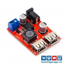 5V 3A LM2596 Dual DC-DC Step-Down mit USB