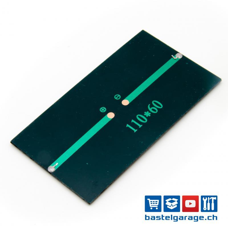 Monokristalline Solarmodul Telefon Ladebatterie Solarzelle 4,5W 6V