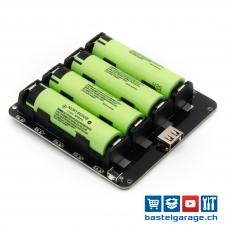 4x18650 Lithium Batterie Shield 5V 3A / 3V 1A