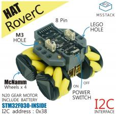 M5StickC RoverC Omni Wheel HAT