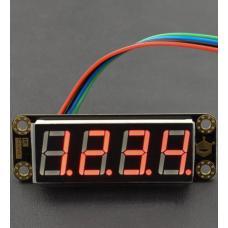 Gravity rotes 4-Digit 7-Segment LED-Display